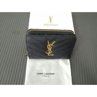 Yves Saint Laurent Beaute - YSLイヴサンローラ 二つみみ折り財布 ブラック 小銭入れ