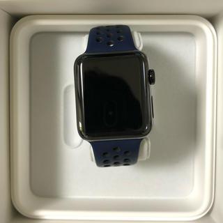 アップルウォッチ(Apple Watch)のApple Watch series2 42mm ステンレス ブラック(腕時計(デジタル))
