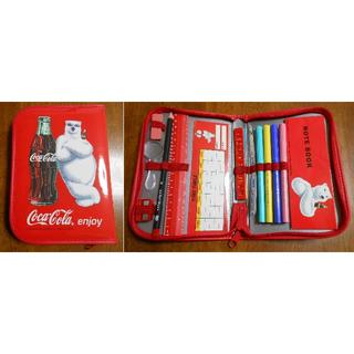 コカコーラ(コカ・コーラ)の未使用 コカ・コーラ ペンケースセット(ノベルティグッズ)