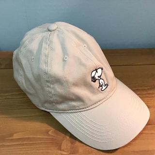 PEANUTS - スヌーピー キャップ 帽子 ベージュ ピーナッツ