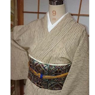 紬単衣 着物 丈160 裄68