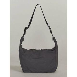 UNITED ARROWS - コットンナイロンショルダーバッグ BY カラー:ブラック