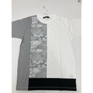 ナノユニバース(nano・universe)のナノユニバース Tシャツ Mサイズ 白 新品タグ付き(Tシャツ/カットソー(半袖/袖なし))