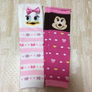 ディズニー(Disney)のレッグウォーマー 靴下 2つセット ミニー デイジー ディズニー(レッグウォーマー)