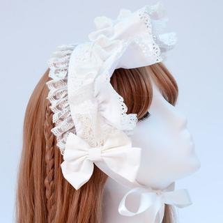 ロリータ ヘアバンド カチューシャ ヘッドドレス かわいい 可愛い 多層レース