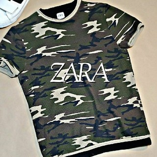 ZARA - 送料無料☆ ZARA ザラ メンズ 迷彩 半袖 Tシャツ M  半袖Tシャツ