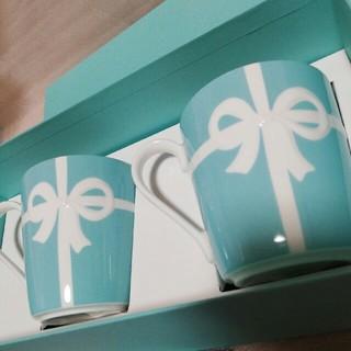 Tiffany & Co. - ティファニー ブルーボックス マグカップ ペア 食器 ブルーリボン 新品