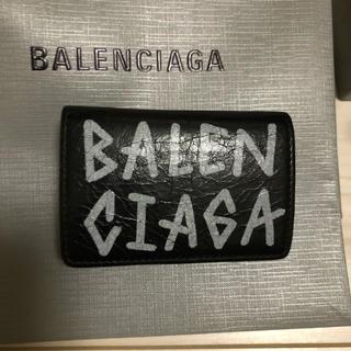 バレンシアガ(Balenciaga)のBALENCIAGA バレンシアガ  キャリー グラフィティプリント三つ折り(折り財布)