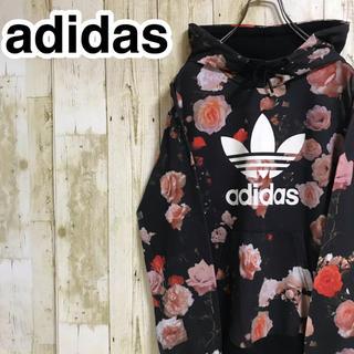 adidas - アディダスオリジナルス プルオーバーパーカー M ボタニカル柄 トレフォイル
