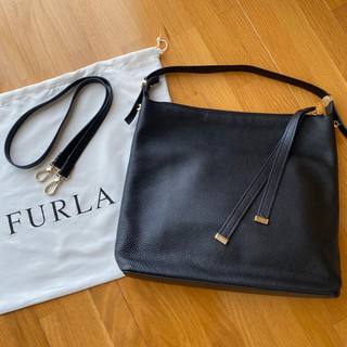 Furla - FURLA フルラ レザー 2WAYショルダーバッグ ブラック