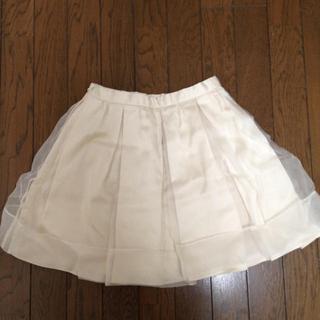 マーキュリーデュオ(MERCURYDUO)のオーガンジートラペーズスカート(ミニスカート)