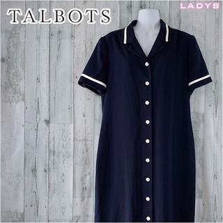 タルボット(TALBOTS)のTALBOTS オープンカラー シャツ ワンピース L~ XL ロングワンピース(ロングワンピース/マキシワンピース)