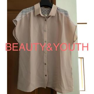 ビューティアンドユースユナイテッドアローズ(BEAUTY&YOUTH UNITED ARROWS)の美品 BY ユナイテッドアローズ ブラウス(シャツ/ブラウス(半袖/袖なし))