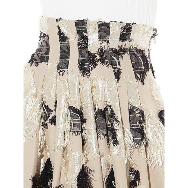 FRAY I.D(フレイアイディー)のフレイアイディー ジャガード フレア スカート レディースのスカート(ひざ丈スカート)の商品写真