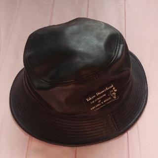ディズニー(Disney)のDisney ランド バケットハット 帽子 黒色 ミッキー 古着 ヴィンテージ(ハット)