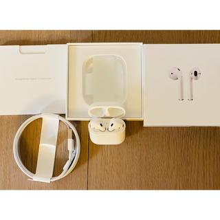 アップル(Apple)の【美品】Apple Airpods 第1世代 社外ワイヤレスケース付(ヘッドフォン/イヤフォン)