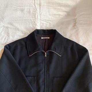 コモリ(COMOLI)のAURALEE 19aw  wool sarge zip up blouson(ブルゾン)