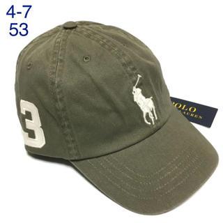 ラルフローレン(Ralph Lauren)の【新品】ラルフローレン♡ビッグポニーチノベースボールキャップ4-7カーキ帽子53(帽子)