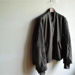 サンシー(SUNSEA)のuru tokyo 2017aw wool flight jacket ブラウン(ブルゾン)