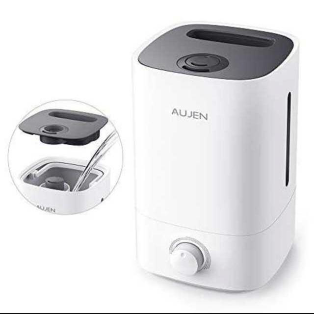 ブラック加湿器 卓上 令和最強版 AUJEN 3.5 次亜塩素酸水 加湿器 除菌 スマホ/家電/カメラの生活家電(加湿器/除湿機)の商品写真