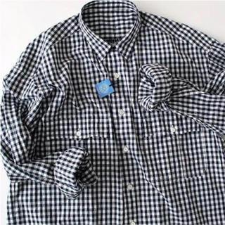 PORTER - Porter Classic ロールアップギンガムチェックシャツ ネイビー