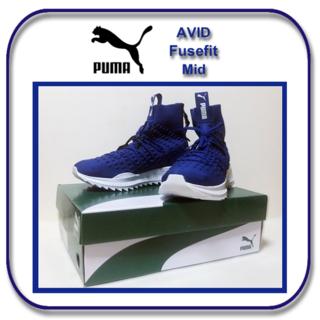プーマ(PUMA)の特価_27cm: プーマ アヴィド フューズフィット ミッド ブルー  US9(スニーカー)
