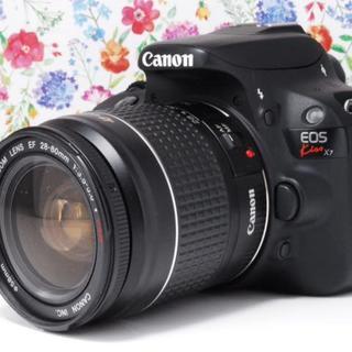 キヤノン(Canon)の◆Wi-Fiセット◆超軽量◆Canon kiss x7 レンズセット★(デジタル一眼)