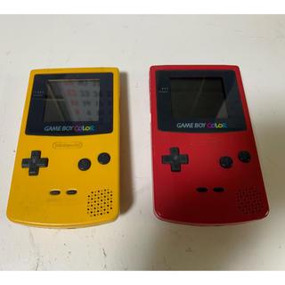 ゲームボーイ(ゲームボーイ)の任天堂・ゲームボーイカラー!ピンク&イエロー!(携帯用ゲーム機本体)