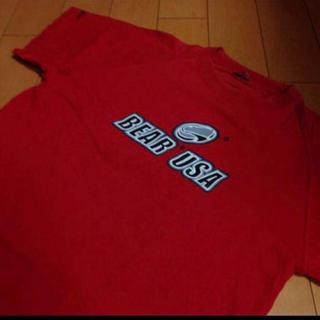 ベアー(Bear USA)のBEARレッドUSA製ラグランコットンT(Tシャツ/カットソー(半袖/袖なし))