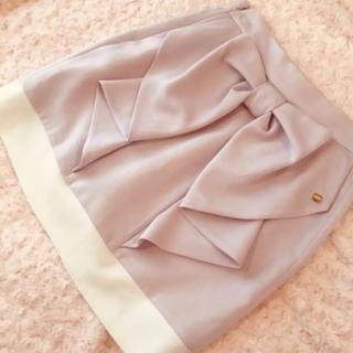 michellMacaron - ミシェルマカロン♡バイカラーバックリボンスカート