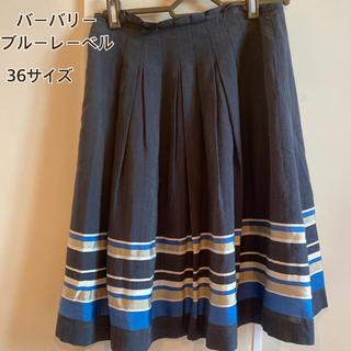 BURBERRY BLUE LABEL - 美品 バーバリーブルーレーベル 36サイズ スカート ブルー系 廃盤