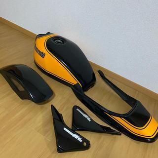 カワサキ - ゼファーχ 外装セット 黒黄 火の玉 タンク テール サイドカバー フェンダー
