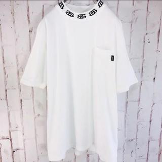 ステューシー(STUSSY)のSTUSSY 激レア ネックプリントロゴT(Tシャツ/カットソー(半袖/袖なし))
