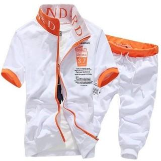 セットアップ 白 オレンジ 半袖 半ズボン メンズ 旭溢 XUYI(その他)