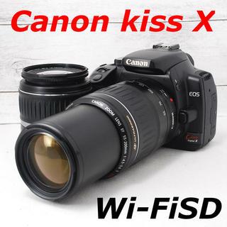 キヤノン(Canon)の❤️一眼初心者❤️Wi-FiSDでスマホへ❤️Canon Kiss X(デジタル一眼)