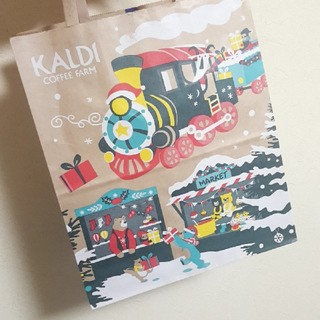 カルディ(KALDI)のKALDI クリスマス 袋(ショップ袋)