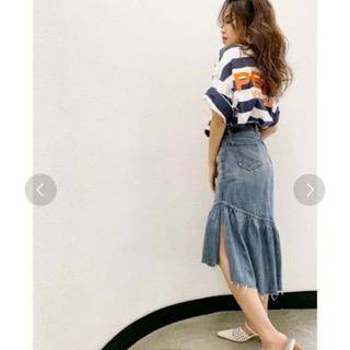 ジェイダ(GYDA)のジェイダ マーメイドスカート デニム(ひざ丈スカート)