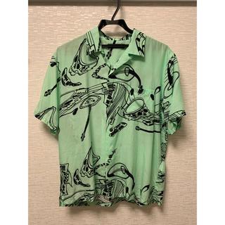 アンダーカバー(UNDERCOVER)のjohn undercover  開襟 柄シャツ 半袖(シャツ)