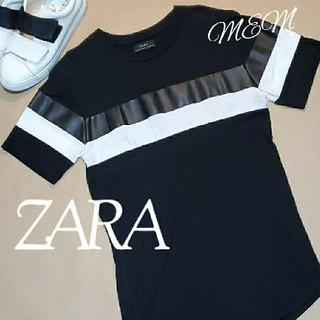ZARA - 送料無料☆ ZARA ザラ メンズ 黒 半袖 Tシャツ M  半袖Tシャツ