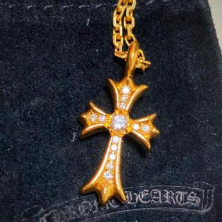 Chrome Hearts - 22k  22金 ダイヤ クロス ネックレス