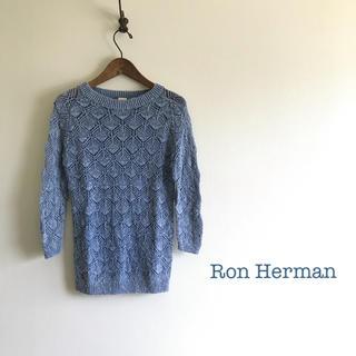 ロンハーマン(Ron Herman)の美品⭐️ Ron Herman レース編み ニット ブルー(ニット/セーター)