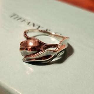 Tiffany & Co. - ティファニー チューリップ モチーフ リング シルバー 925