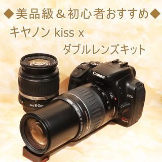 キヤノン(Canon)の★美品級★キヤノン kiss x ダブルレンズキット(デジタル一眼)