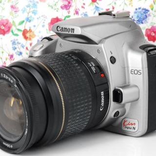 キヤノン(Canon)の【Wi-Fiセット!】Canon kiss N 一眼初心者に最適 シルバー(デジタル一眼)