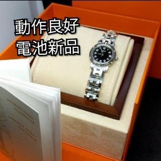 Hermes - エルメス HERMES クリッパー ブラック レディース 腕時計 CL4.210