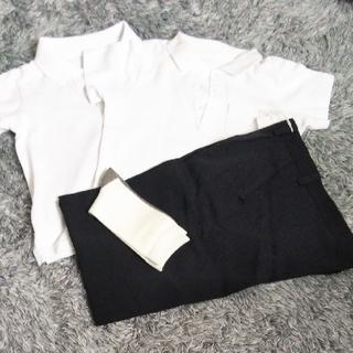 ベルメゾン(ベルメゾン)の制服 紺スクールパンツ ポロシャツ 130(その他)