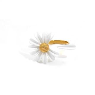 kate spade new york - 新品♡ケイトスペード花びらこぼれるお花リング♪ホワイトXゴールド
