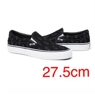 ヴァンズ(VANS)のSUPREME VANS SLIP ON Black 27.5cm(スニーカー)