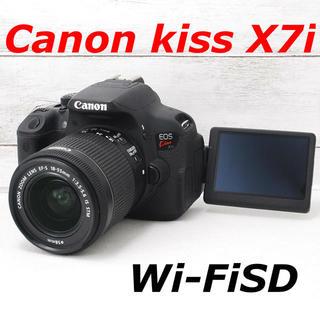 キヤノン(Canon)の❤️バッテリー2個付き❤️スマホ転送❤️Canon kiss X7i(デジタル一眼)