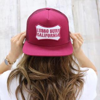 ロンハーマン(Ron Herman)のストリート系☆カリフォルニアパッチキャップ ボルドー  帽子 STUSSY(キャップ)